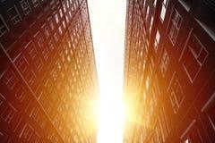 Alta costruzione della sistemazione di aumenti del paesaggio urbano Fotografia Stock