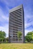 Alta costruzione di appartamento del mattone del nero di aumento Cenakel, Tilburg, Paesi Bassi Fotografia Stock