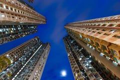 Alta costruzione di appartamento di aumento Fotografia Stock