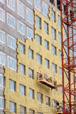 Alta costruzione di aumento in costruzione Fotografie Stock Libere da Diritti