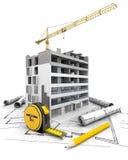 Alta costruzione di aumento che va in su Fotografia Stock