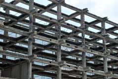 Alta costruzione di aumento che va in su Fotografie Stock