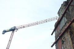 Alta costruzione di aumento che va in su Immagini Stock