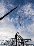 Alta costruzione di aumento che va in su Casa di dimora della costruzione house Costruzione della Camera Fotografie Stock Libere da Diritti