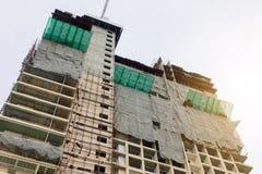 Alta costruzione di aumento in costruzione Fotografie Stock