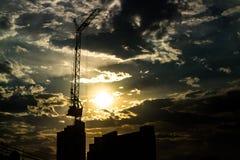 Alta costruzione di aumento delle siluette Immagine Stock