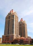Alta costruzione di aumento due. Fotografia Stock