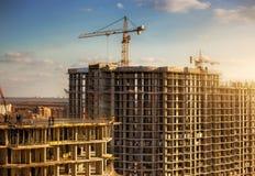 Alta costruzione di edifici Immagine Stock