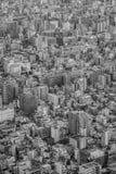 Alta costruzione di Tokyo e casa residenziale Fotografia Stock Libera da Diritti