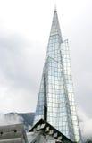 Alta costruzione di vetro della guglia in Andorra Immagine Stock
