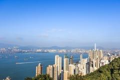 Alta costruzione in Hong Kong Fotografia Stock Libera da Diritti