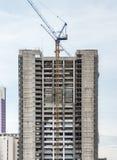 Alta costruzione moderna dentro in costruzione Fotografia Stock