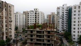 Alta costruzione moderna Nuova Delhi del grattacielo di aumento Fotografie Stock Libere da Diritti