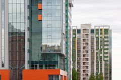 Alta costruzione nel centro di affari Fotografie Stock