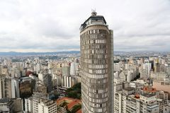 Alta costruzione a Sao Paulo del centro Brasile Fotografia Stock Libera da Diritti
