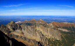 Alta cresta principale di Tatras e Belianske Tatras, Slovacchia Fotografie Stock Libere da Diritti
