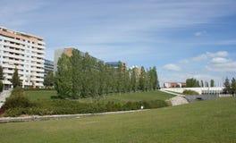 Alta de Lisboa e o parque oriental em Lisboa, Portugal Fotos de Stock Royalty Free