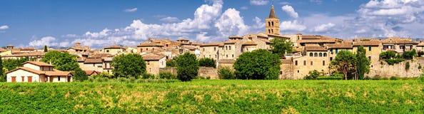 Alta definizione di Bevagna (Umbria) panoramica Fotografia Stock Libera da Diritti