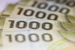 Alta denominazione sulla banconota cilena Fotografia Stock