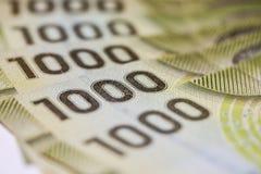 Alta denominazione sulla valuta cilena Fotografia Stock