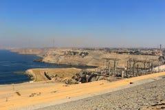 Alta diga a Assuan Egitto Immagine Stock Libera da Diritti