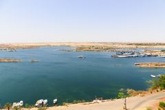 Alta diga - Egitto Fotografia Stock