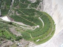Alta diga nelle montagne dell'Austria Fotografie Stock Libere da Diritti