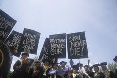 ALTA DISOCCUPAZIONE DELL'INDONESIA Fotografia Stock