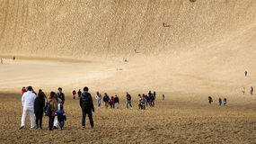 Alta duna di sabbia di Tottori Immagini Stock