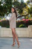 Alta energía con las piernas pantyhosed Imágenes de archivo libres de regalías