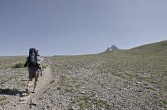 Alta escursione alpina Immagini Stock