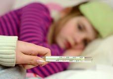 Alta febbre Fotografia Stock