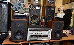 Alta fedeltà stereo d'annata Tesla stabilito - Cecoslovacchia 1985 Immagini Stock
