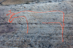 Alta-Felsenkunst Lizenzfreie Stockbilder