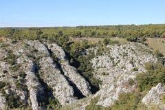 Alta formazione rocciosa Fotografie Stock Libere da Diritti
