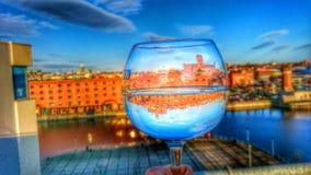 Alta fotografía de la copa de vino de la definición Foto de archivo libre de regalías