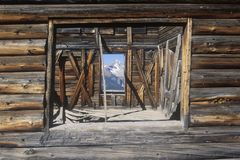 Alta ghost town with San Juan Mountains near Telluride, CO Stock Photos