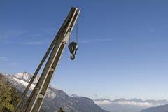 Alta gru alpina Fotografie Stock Libere da Diritti