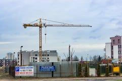 Alta gru di costruzione Immagine Stock Libera da Diritti