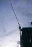 Alta gru a torre della costruzione Fotografie Stock