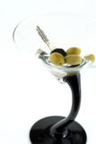 Alta immagine chiave dei tasti dell'automobile nella bevanda del martini Fotografia Stock Libera da Diritti