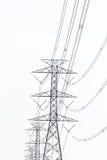 Alta línea de la torre de potencia de Volage Fotografía de archivo