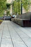 Alta línea New York City Parque peatonal elevado Imagen de archivo