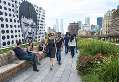 Alta línea parque en Nueva York Fotografía de archivo