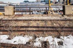 Alta línea y yarda de lado oeste NYC Fotografía de archivo