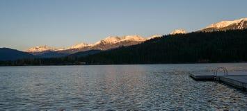Alta Lake in Daling Stock Afbeelding