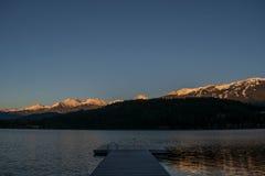 Alta Lake in Daling Stock Afbeeldingen