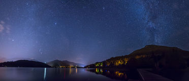 Alta Lake in Fluiter onder de Sterren Stock Fotografie