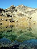 alta lake nya queenstown zealand arkivbild