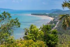 Alta linea della costa di vista Fotografia Stock